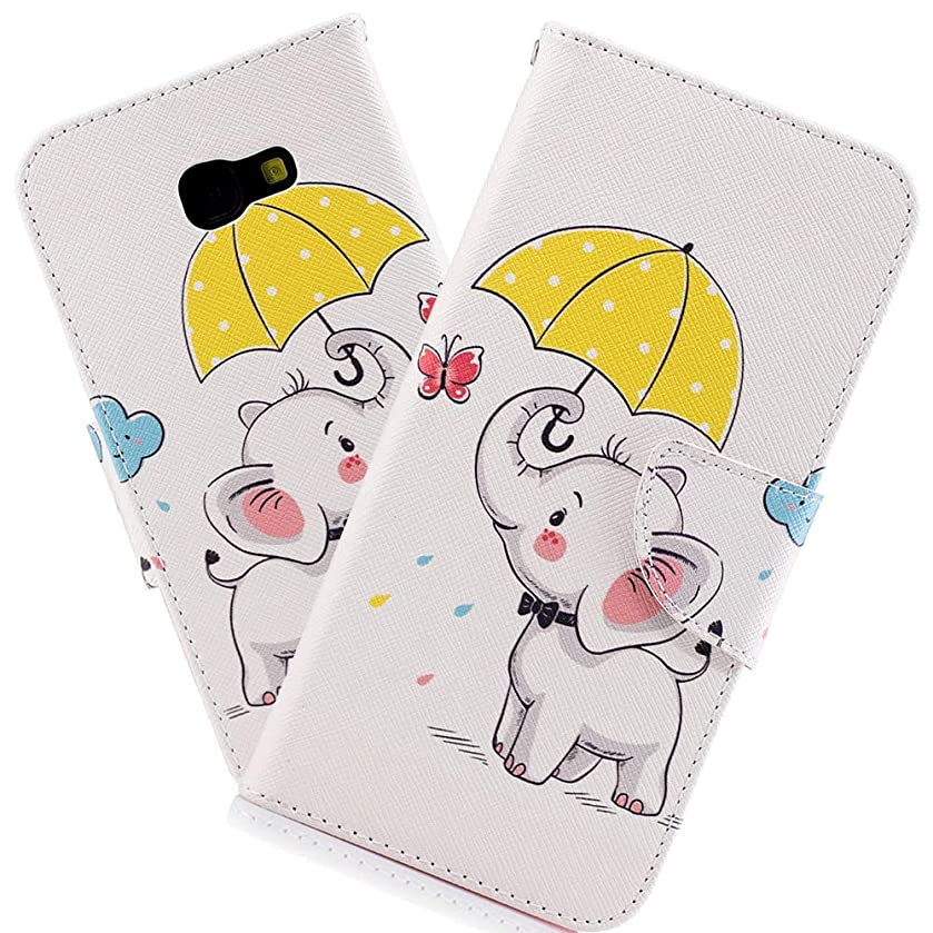 HMTECHUS Samsung A5 2017 Case Printing Flamingo Retro Panda Floral Wallet Folio Flip PU Leather with Stand Card Holder Slots Protect Cover for Samsung Galaxy A5 2017 SM-A520 Umbrella Dumbo BF