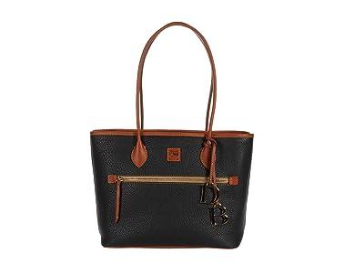 Dooney & Bourke Pebble Tote (Black) Handbags