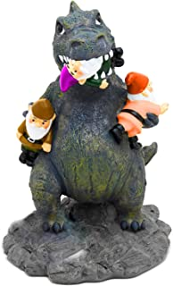 Garden Gnome Statue Home Outdoor Garden Lawn Funny Figure Angry Dinosaur Great Gifts Collectors Item