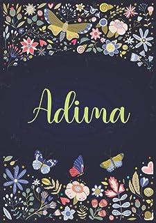 Adima: Taccuino A5 | Nome personalizzato Adima | Regalo di compleanno per moglie, mamma, sorella, figlia ... | Design: gia...