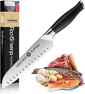 TooSharp Cuchillo Santoku/Seriie Comfort-Pro/Cuchillos de Acero Inoxidable Alto en Carbono X50CrMoV15-7