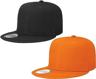7fb96e88a35d4 Falari Snapback Hat Cap Hip Hop Style Flat Bill Blank Solid Color  Adjustable Size