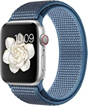 Misker Compatible with for Apple Watch Band 38mm 40mm 42mm 44mm Soft Lightweight Breathable Sport Replacement Band for Watch Series 5 4 3 2 1 (Cape Code Blue, 42mm/44mm)