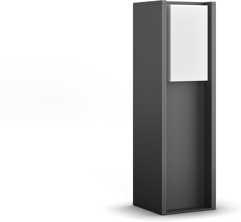 Philips Hue LED Sockelleuchte Turaco für den Aussenbereich, dimmbar, warmweies Licht, steuerbar via App, kompatibel mit Amazon Alexa (Echo, Echo Dot)