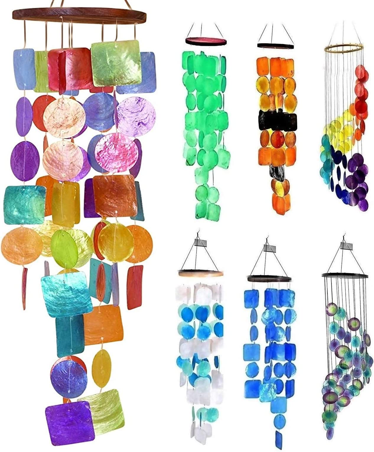 Original Design Elegant Copper Swirl of Colorful Beads and Bells Wind Chime One-of-a-Kind Glass Beads Indoor Handmade Bells Outdoor
