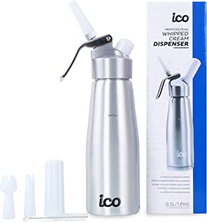 ICO Professional Whipped Cream Dispenser for Delicious Homemade Whipped Creams, Sauces,..