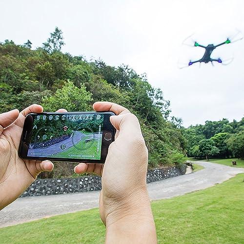 bienvenido a elegir Cewaal Drone con cámara cámara cámara WIFI 1080P 120 grados Transmisión en gran angular en tiempo real, One Key Take Off Landing Return, Interruptor de velocidad, Trajectory Flight, Control por voz, Gravity Sensing  edición limitada en caliente