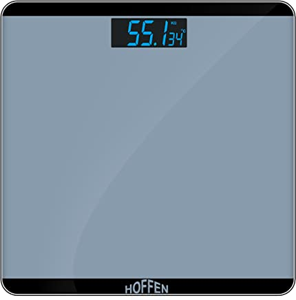 Hoffen Electronic Digital LCD Personal Health Body Fitness Weighing Scale (White)