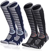 Ski Socks for Men Women Snowboarding Socks, Skiing Calf Socks (High Performance Winter Sport Wool Socks-Long Socks for Win...
