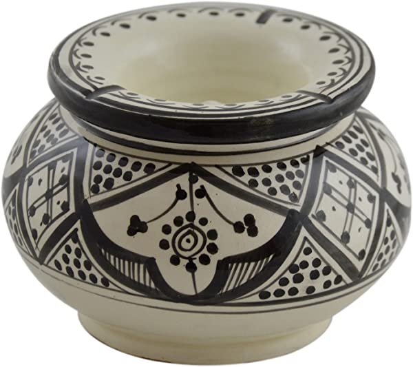 Ceramic Ashtrays Moroccan Handmade Smokeless Cigar Exquisite Design With Vivid Colors Large