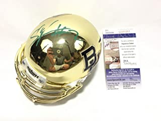 Shawn Oakman Autographed Signed Baylor Bears Gold Chrome Mini Helmet JSA COA