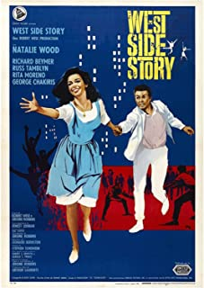 HJZBJZ West Side Story Film Vet Broadway Poster en Prints Wall Art Print op Canvas Home Decor Gift -20X28 Inch Geen Frame