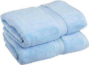 مناشف حمام فاخرة طراز 900 جي اس ام، مصنوعة من القطن 100% منشفة فاخرة طويلة، مجموعة مكونة من 2 مناشف حمام عالية الجودة