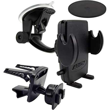 Arkon Car Phone Holder Mount for iPhone 12 Pro Max XS XR Galaxy Note 21 20 10 Retail Black