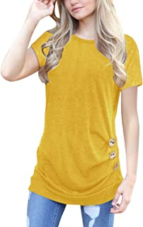 662e7935f7 JomeDesign Women s Tops Short Sleeve Casual T-Shirts Tunic Tops Blouse S-XXL