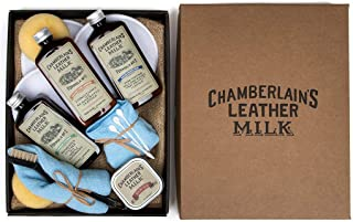 Leather Milk Leather Restoration Kit - Heal & Restore Antique Leather. Cleaner, Conditioner, Water Protectant, Healing Bal...