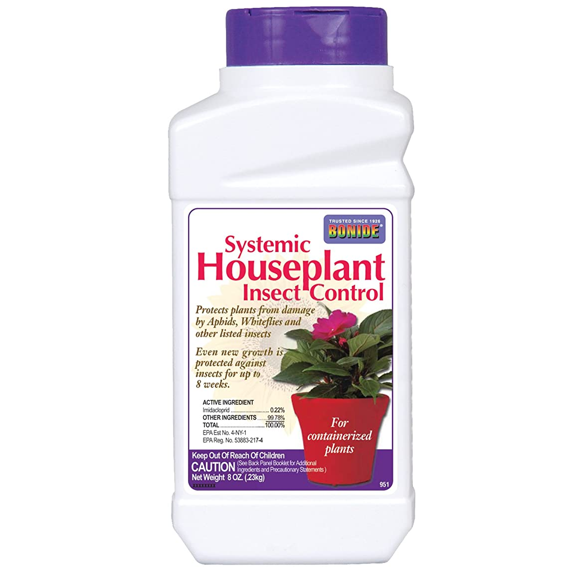 Bonide (BND951) - Systemic House Plant Insect Control, 0.22% Imidacloprid Insecticide (8 oz.), white uilde51485970372