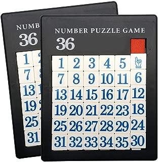 Plastic Slide 35 Number Puzzle - 2 Pack