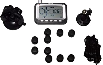 BELLACORP Tire Pressure Monitoring System TPMS Ten (10) Sensors for Heavy Pickup with Dually Axle Hauling a Fifth Wheel, Trailer, Camper, Box Trailer, or Horse Trailer