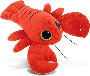 DolliBu Plush Lobster Stuffed Animal - Soft Fur Huggable Big Eyes Red Lobster Decor, Adorable Playtime Plush Toy, Cute Marine Sea Life Cuddle Gift, Soft Plush Doll Animal Toy for Kids & Adult - 6 Inch