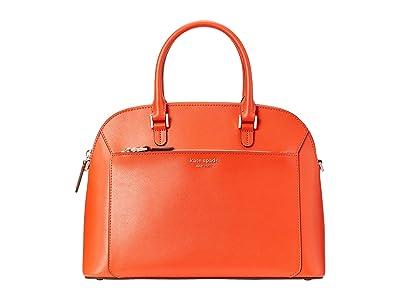 Kate Spade New York Louise Medium Dome Satchel (Tamarillo) Bags
