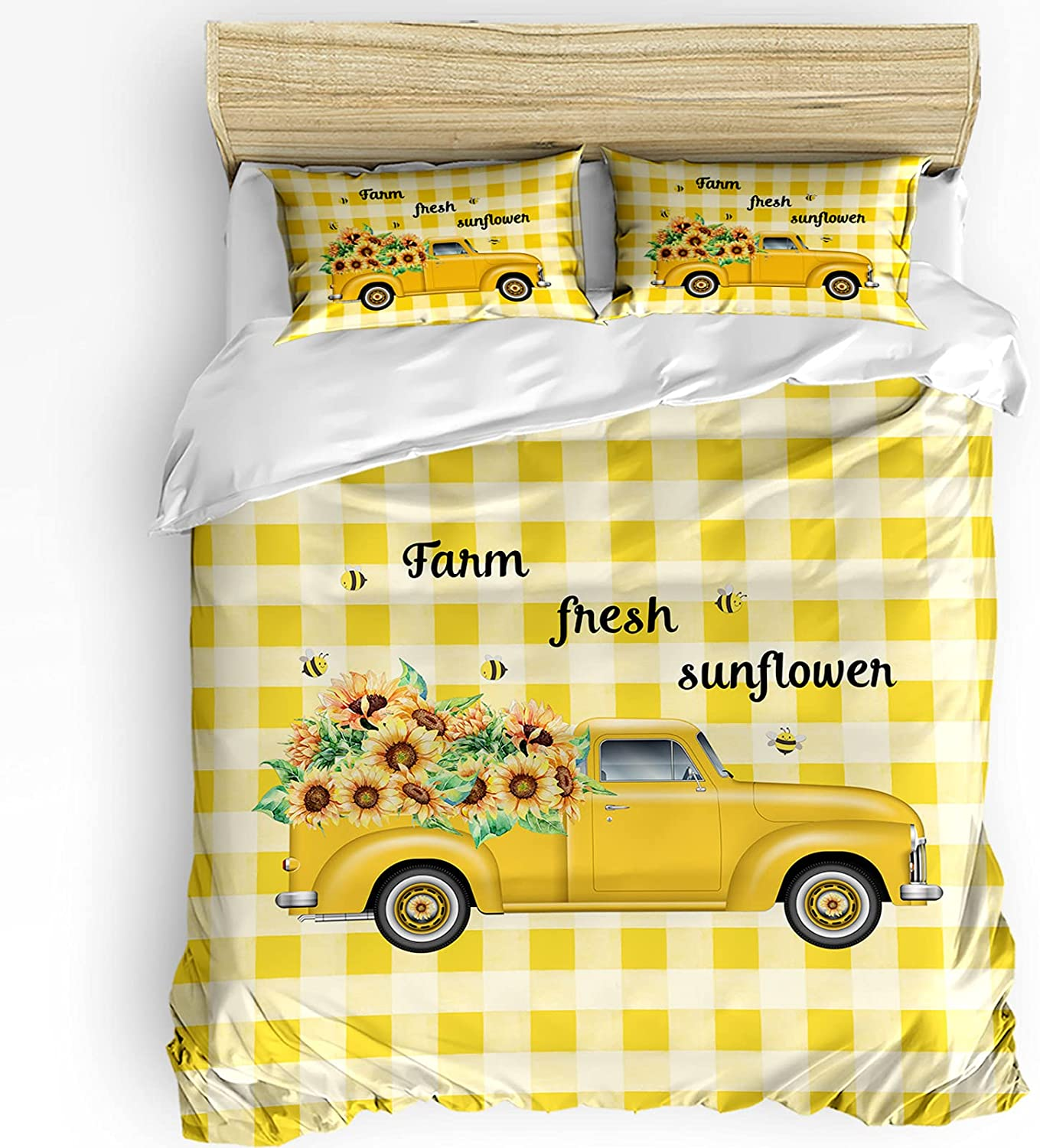 Floral gift Duvet Cover National products Set 3 Pieces Microfiber Breathable Polyester