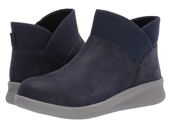 Clarks  Sillian 2.0 Dusk (Navy Synthetic Nubuck) Womens  Boots