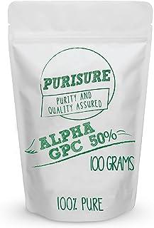 Sponsored Ad - Alpha GPC 50% Powder 100g (167 Servings), Choline Cognitive Enhancer, Nootropic, Enhanced Power Output, Moo...