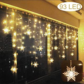 Lichterkette LED Lichterkettenvorhang Warmweiß Weihnachtsbeleuchtung IP44 Fest#