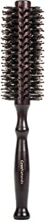 Boar Bristle Round Styling Hair Brush - 1.75 Inch Diameter - Blow Dryer & Curling Roll Hairbrush with Natural Wooden Handl...