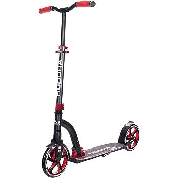 HUDORA Big Wheel Scooter Flex 200,Tret-Roller Stoßdämpfung - City-Scooter, rot, 14249