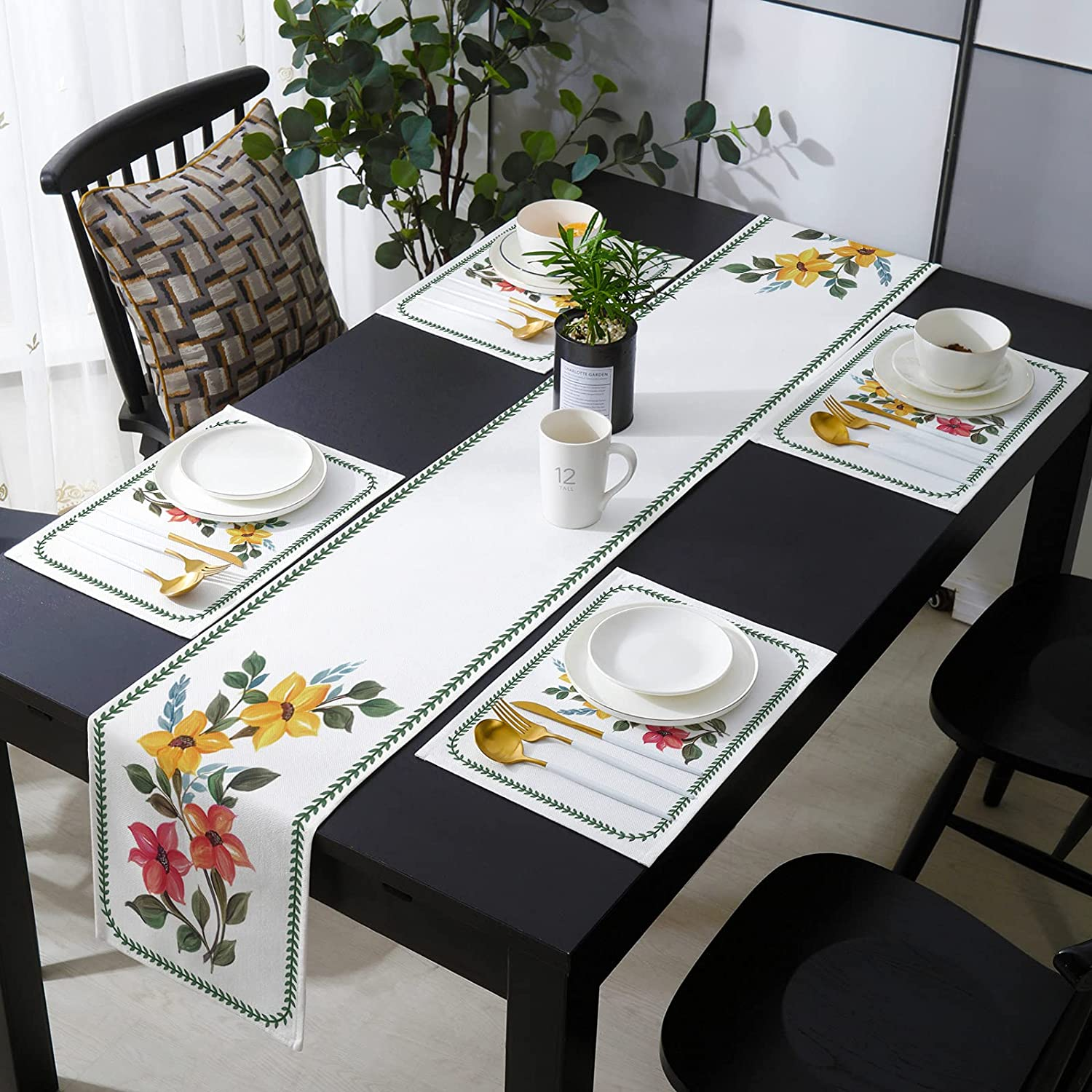 Table Runner Popular product Sets with Ranking TOP7 Placemats - Mats Matching 6 Sa