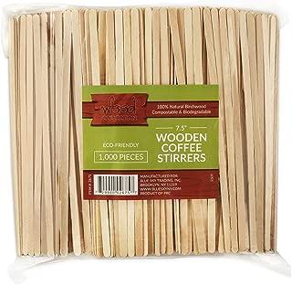Wood Collection Wooden Coffee Stir Sticks, 100% Natural Birchwood Beverage Stirrers Eco Friendly Biodegradable 7