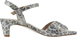 Metallic Leopard Print Leather