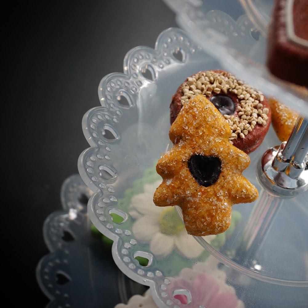 Tincogo Pr/ésentoir /à G/âteaux,Plastique 3-Etages Stand de G/âteaux,Pr/ésentoir Cupcakes,Pr/ésentoir /à Fruits,Support Cupcake Dessert Stand,Pr/ésentoir /à P/âtisserie,Pr/ésentoir Plateau de G