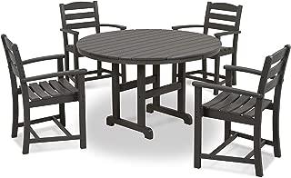 POLYWOOD PWS100-1-GY La Casa Café 5-Pc. Dining Set, Slate Grey