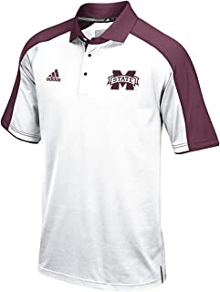 adidas Mississippi State Bulldogs NCAA Sideline Climalite Polo Shirt - White