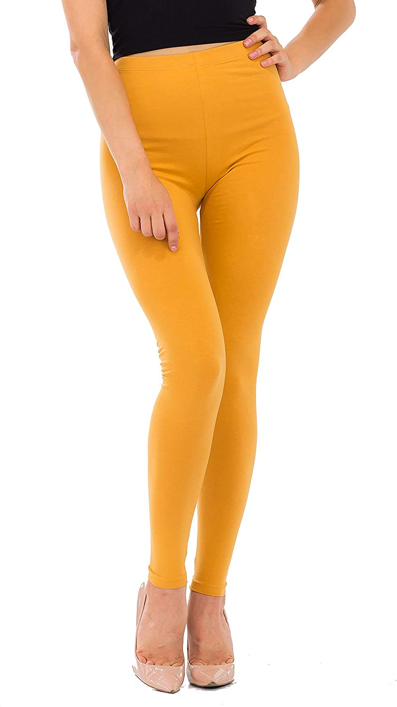 NANAVA Women's Slim Fit Hi-Rise Cotton Full Length Leggings