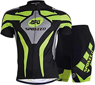 sponeed Men Cycling Outfit Set MTB Bicycle Jersey Road Biker Shorts Trianthlon Cyclwear Shirts