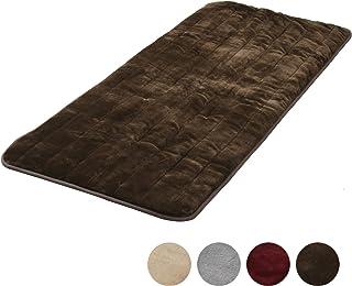 [山善] 洗えるどこでもカーペット (丸洗い可能) 180×80cm フランネル仕上げ 室温センサー付 ブラウン YWC-182F(T) [メーカー保証1年]