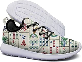 Mens Lightweight Fashion Sneakers Mahjong Tiles Running Shoe Casual Athletic Shoes Breathable