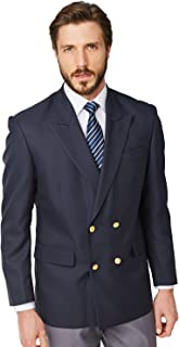 double breasted blue blazer mens