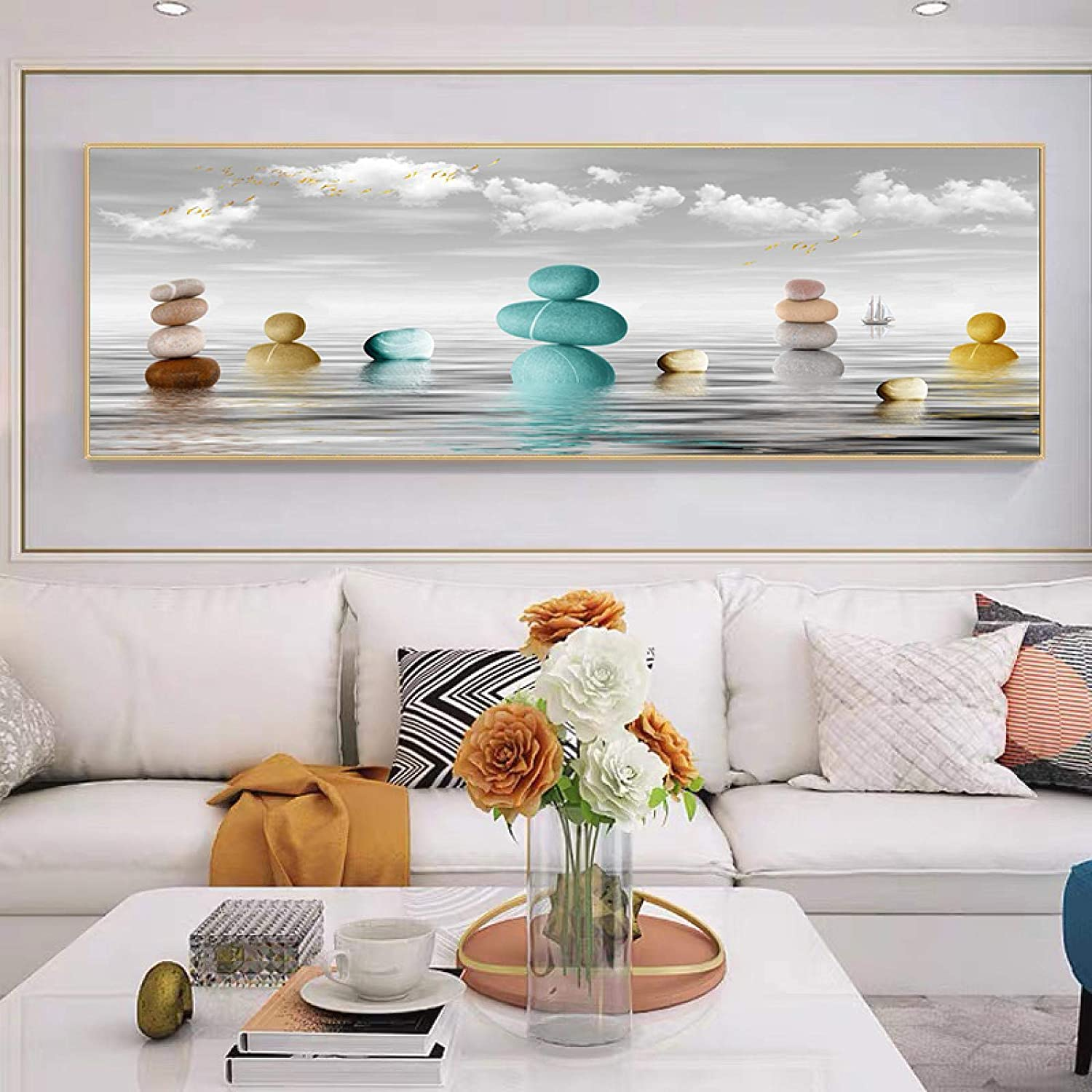 Sunsightly Print on Canvas Limited price sale Modern Free shipping Surface Sea Colorful Abstract