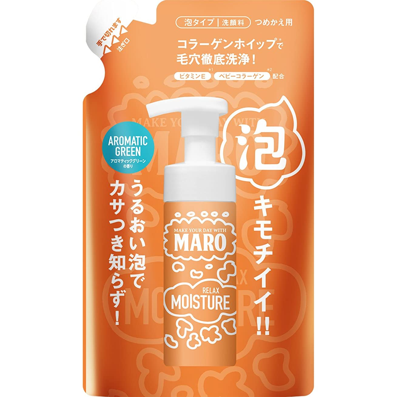 緯度チャネル無許可MARO グルーヴィー 泡洗顔 詰め替え リラックスモイスチャー 130ml