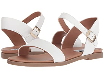 Steve Madden Dina Sandal (White Leather) Women