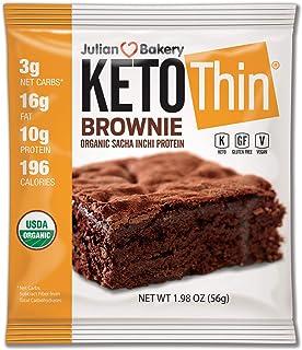 Julian Bakery Keto Thin Brownie   USDA Organic   Vegan   Gluten-Free   3 Net Carbs   8 Brownies  