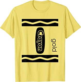 Gold Crayon Box Halloween Costume Couple Group Gifts T-Shirt
