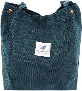 SEVENHOPE Frauen Cord Handtasche Schultertasche Tote Geldbörse Lässig Einkaufstasche Mode Große Kapazität Umhängetasche