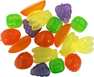 Reusable Freezable Plastic Ice Cubes Fruits Shaped (Pack of 18)