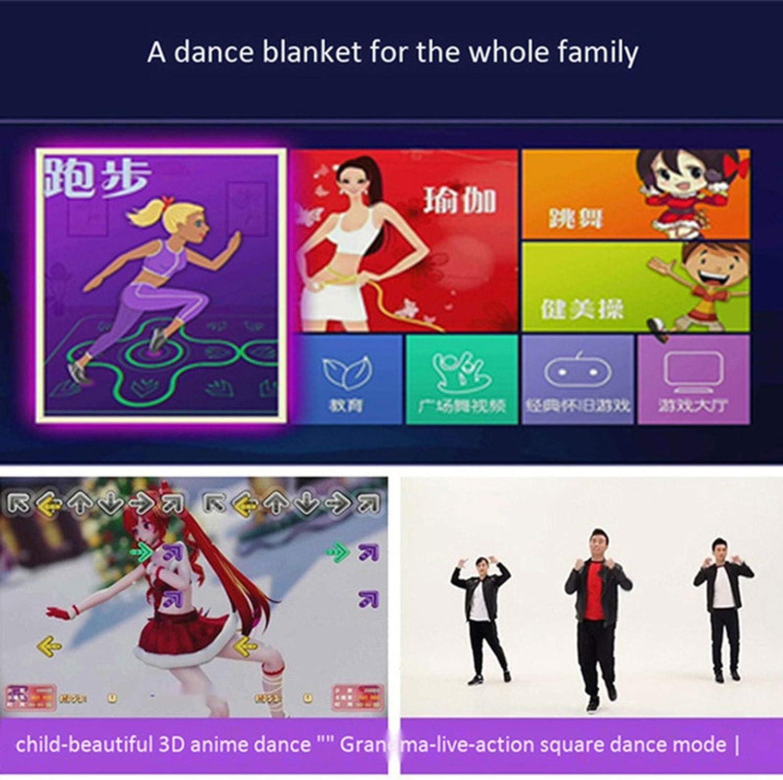 Alfombra de Baile Multifuncional Gruesa Puerto HDMI inal/ámbrico Actividades Familiares Doble Asas Yoga Yxxc Alfombra de Baile Juego Alfombra de Baile Correr